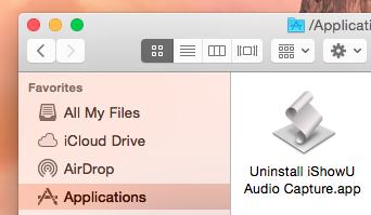 Uninstalling iShowU Audio Capture – shinywhitebox help