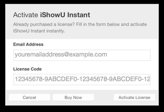 How do I activate iShowU Instant? – shinywhitebox help